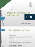 Diagnóstico diferencial dolor articular