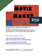Instalar Movie Maker en Windows 10