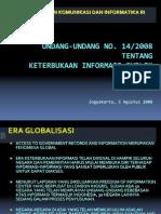 UU Keterbukaan Informasi Publik