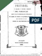 Pastoral Del Iltmo. y Revmo. Obispo Del Paraguay Don Juan Sinforiano Bogarín 1898