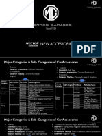 2021 MG Hector Plus Accessories List - Official