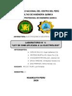 ELECTROQUIMICA INDUSTRIAL-GRUPO 3-Informe de Electrolisis (1)