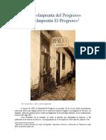 De la «Imprenta del Progreso»  a la «Imprenta El Progreso»