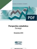 Perspectiva Estadística. Durango. Diciembre 2010