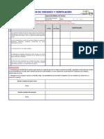 Lista de chequeo y verificación estándar de seguridad Molino de carnes