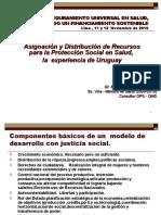 Asignación y Distribución de Recursos para la Protección Social en Salud,  la  experiencia de Uruguay