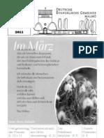 Gemeindebrief Frühjahr 11