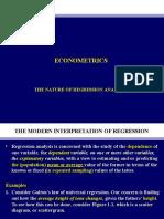 2. Nature of Regression Analysis