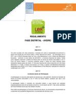 Regulamento do Concurso Nacional de Leitura, adaptado à fase distrital de Aveiro