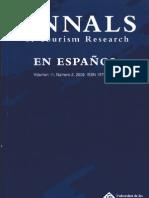 Annals of Tourism Research en Español