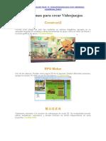 Programas para crear Videojuegos