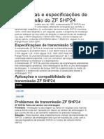 Problemas e especificações de transmissão do ZF 5HP24.docx