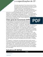 Problemas e especificações do ZF 9HP48