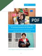 Crearea unor sisteme de educaţie reziliente în contextul pandemiei de COVID-19