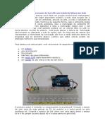 Projeto Arduino com sensor de luz LDR com saída de leitura em leds