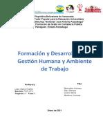 Gestion y Ambiente de Trabajo Formación y Desarrollo