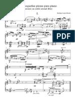 Dos pequeñas piezas para piano - Partitura completa