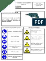 ES21-PC11 ESTÁNDAR DE SEGURIDAD TALADRO
