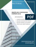 DISEÑO DE CONEXIONES EMPERNADAS