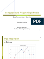 Computation and Programming in Physics - Data Representation / Graphics