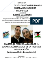 CARTEL CONFERENCIA EL MAMI 22 FEBRERO