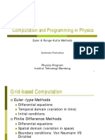Computation and Programming in Physics - Euler & Runge-Kutta Methods