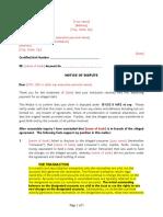B - Letter 1 - 1st Dispute Letter to Pretend Lender
