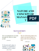Nature and Concept, The Firm & Its Environment - Organization and Management