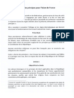 Charte de Principes Pour l'Islam de France
