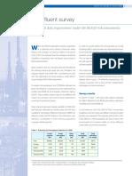 Concawe New Refinery Effluent Survey 2009
