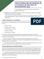 EspectroAutista.Info – Escala Autónoma para la Detección del Síndrome de Asperger y el Autismo de Alto Nivel de Funcionamiento