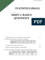 Basic stats Questions