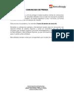 COMUNICADO - BancoEstado Informa Proceso de Recambio de CuentaRUT