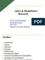 Qualitative & Quantitative Research