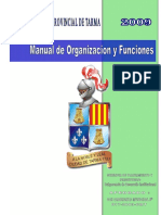 Manual de Organizacin y Funciones de Organizacin y Funciones Municipalidad Provincial