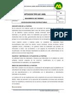 002. Especificaciones Obras de Captación Barranca