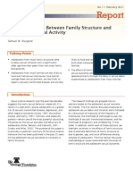 The Relationship Between Family Structure and Sexual Activity