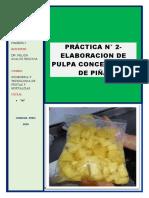 Elaboracion de Pulpa Concentrada de Piña_( Marmani)