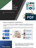 Elementos de la gestión empresarial y modelos teóricos