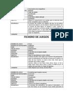 FICHERO DE JUEGOS