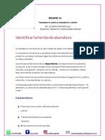 HERIDA DE ABANDONO. TAREA