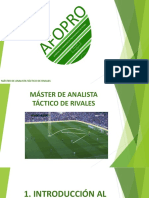 Tema 1 - Máster de Analista táctico de rivales