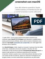 Come fare screenshot con macOS Mojave | Libero Tecnologia