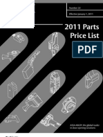 Corbin Parts Price Book 2011