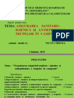 Asigurarea sanitaro-igienică și antiepidemică
