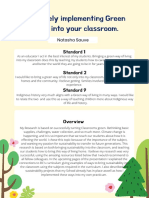 effectively implementing green living into your classroom