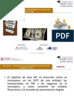 NIC 21 - EFECTOS DE LAS VARIACIONES EN LAS TASAS DE CAMBIO DE LA ME (1)