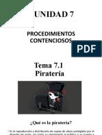 7.1 PIRATERIA