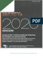 ASNT-SNT-TC-1A -2020  By William Mendoza,  en español