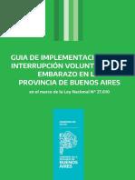 Guía - Interrupción Voluntaria Del Embarazo PROVINCIA DE BUENOS AIRES